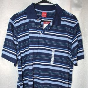Junction West Blue Striped Men's Polo NWT